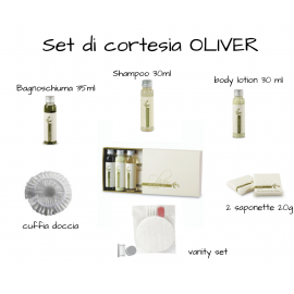 KIT DI CORTESIA ALL'OLIO D'OLIVA IN ASTUCCIO