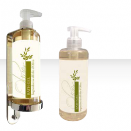 Dispenser 300 ML con liquido mani/corpo/capelli all'olio d'oliva